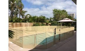 In Ground Pool Safety Fence Beige Groupon