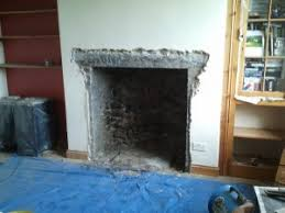 opening up a fireplace the stove