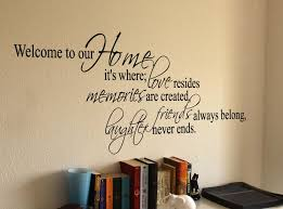 Welcome To Our Home Where Wall Decal Wall Quotes Decals Family Wall Decals Quotes Vinyl Wall Decal Quote