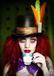 hair and makeup for the mad hatter
