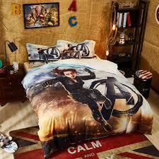 marvel avengers black widow bedding set