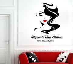 Beauty Salon Beautiful Woman Face Wall Decal Lashes Wall Decor Etsy