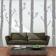 Large Birch Tree Wall Sticker Decals Living Room Vinyl Etsy