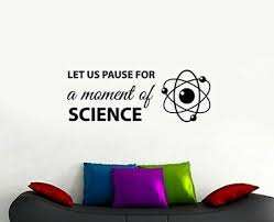 Science Quote Wall Decal Education Vinyl Sticker Poster Art Classroom Decor 4edn Ebay