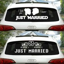 Geeky Just Married Vinyl Car Decals Shut Up And Take My Money
