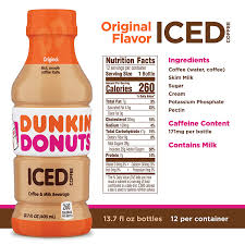 dunkin donuts iced coffee nutritional