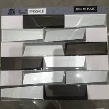 grey color mirror glass mosaic m855416