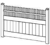 6 Foot X 8 Foot Vinyl Fence Panel Privacy Cambridge White