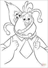 Alien Kirby Zit Op Het Hoofd Van Buck Kleurplaat Gratis