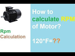 how to calculate rpm of motor you