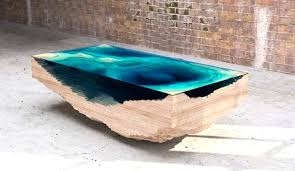 abyss table layers glass and wood