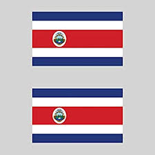 Costa Rica Flag Laminated Car Self Adhesive Vinyl Decal Sticker New