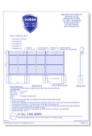 Cad Drawings Of Barbed Wire Fences Caddetails