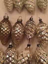 18 vintage silver pine cone mercury