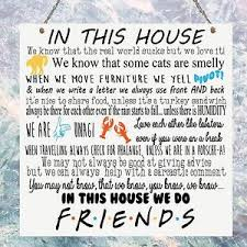 personalised friends tv show quotes family rules in this house