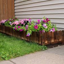 Shop Sunnydaze Outdoor Garden Border Fence Panel Rustic Wood Set Of 5 15 Tall Overstock 25070781
