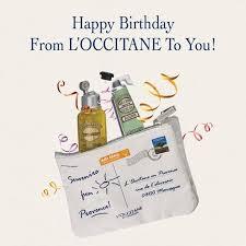 free birthday stuff l occitane