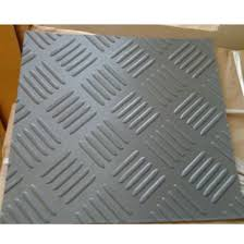 mating corrugated rubber sheet