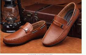 leather shoes brand men loafers male