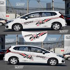 Car Personality Body Waist Line New And Old Models For Honda Fit Car Modified Car Stickers Pull Flower Car Decoration Stickers Car Stickers Aliexpress