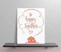 So Happy Together Vinyl Lettering Decals Wall Art Stickers Home Decor Quote
