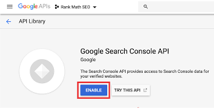 How To Create a Google API Project For Connecting Search Console » Rank Math
