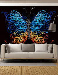 Large Swirl Butterfly Wall Graphic Mural 6024 Butterfly Wall Art Wall Graphics Butterfly Wall