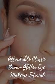 affordable clic brown glitter eye