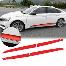 Xotic Tech 6pcs Red Vinyl Car Door Side Stripe Sticker Lower Door Panel Decal Molding Trim For Honda Accord 2018 2019 Walmart Com Walmart Com