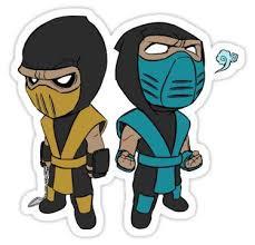 Scorpion Amp Sub Zero Sticker In 2020 Mortal Kombat Tattoo Scorpion Mortal Kombat Mortal Kombat Art
