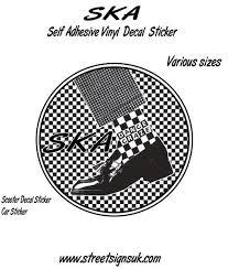 Ska Dance Craze Decal Sticker Wall Art Comes In Various Sizes Vinyl For Cars Wall Art Sticker Wall Art