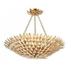 gold leaf design ceiling uplighter pendant