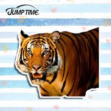 Jump Time 13cm X 10 8cm Tiger Watching You 3d Car Stickers Car Decal Sticker Car Window Bumper Motor Car Decals Accessories Aliexpress