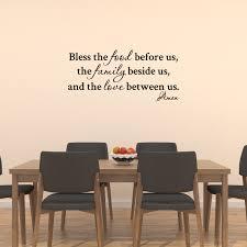 Bless The Food Before Us Vinyl Wall Decal Quotes Kitchen Home Sticker Decor Jm7 Walmart Com Walmart Com
