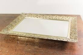 dresser vanity tray gold filigree