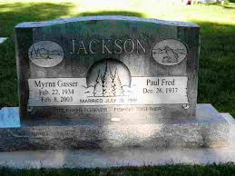 Myrna Jean Gasser Jackson (1934-2003) - Find A Grave Memorial