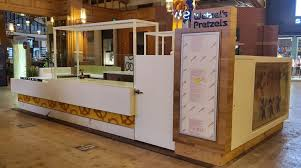 mall kiosk installation photos from