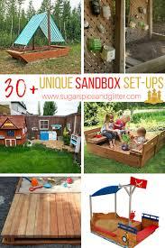 unique sandbox set ups for kids sugar