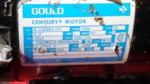 wire gould motor 230v to use less s