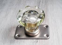 clear glass door knob ussr vintage
