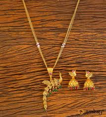 peacock pendant set with gold plating