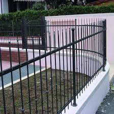 China Black Galvanized Steel Spear Picket Fence Garden Security Fence Gate China Handrail Fence