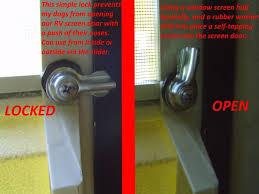screen door latch screen door