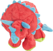dinos frills chew guard plush dog toy