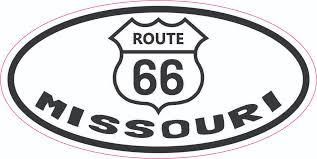 4 X 2 Oval Route 66 Missouri Vinyl Sticker Stickertalk