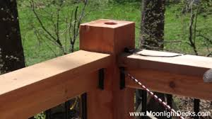 Low Voltage Deck Lights Installation Lighted Post Caps Youtube