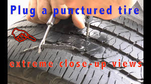 how to fix a nail in your tire step by