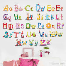 26 Alphabet Cartoon Funny Letters Wall Stickers Kids Room Decoration Nursery Mural Art Home Decals Murals Home Decor Wall Decals Home Decor Wall Sticker From Kity12 1 51 Dhgate Com