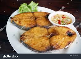 Piece Fried King Mackerel Fish Fish ...