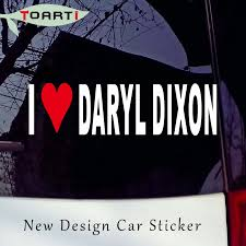 18 5cm I Love Daryl Dixon Quotes Car Stickers Funny Bumper Sticker Car Van Stylings Car Accessories Decoration Murals Decals Car Stickers Aliexpress